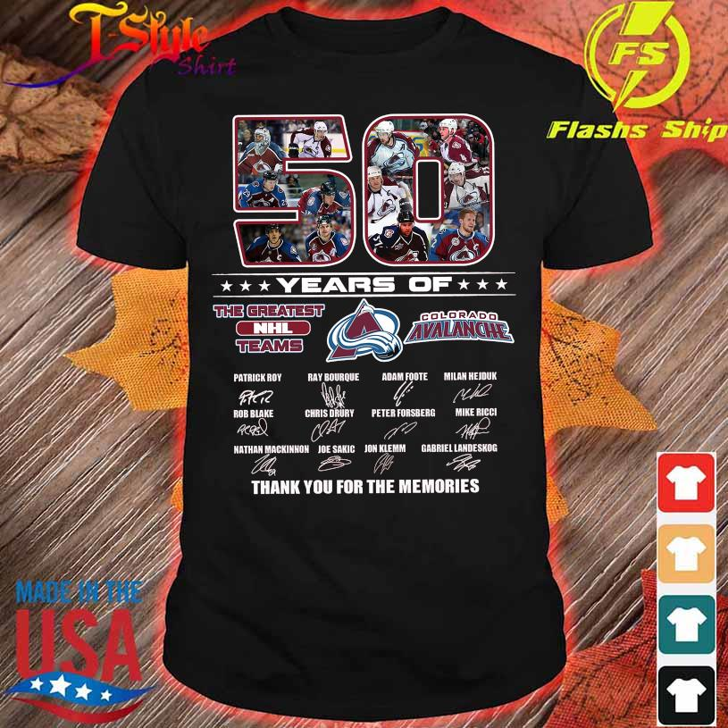 50 Years of the Greatest Nhl teams Colorado Avalanche signatures shirt