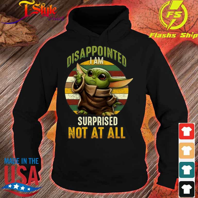 Vintage Disappointed I Am Surprised Not at All Shirt hoodie
