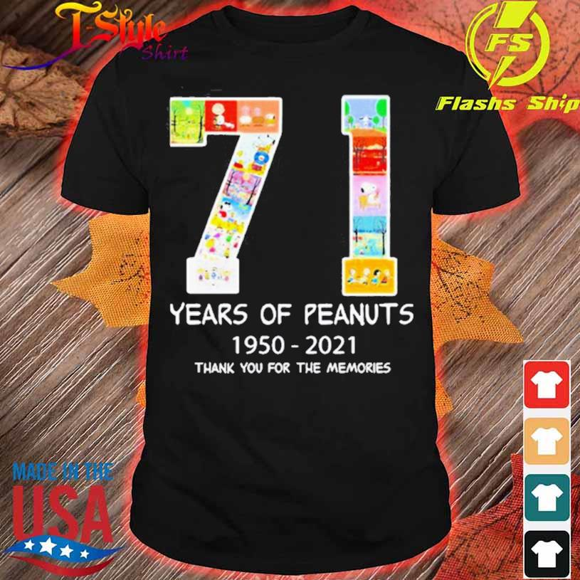 71 Years Of Peanuts 1950 2021 Thank You For The Memories Shirt
