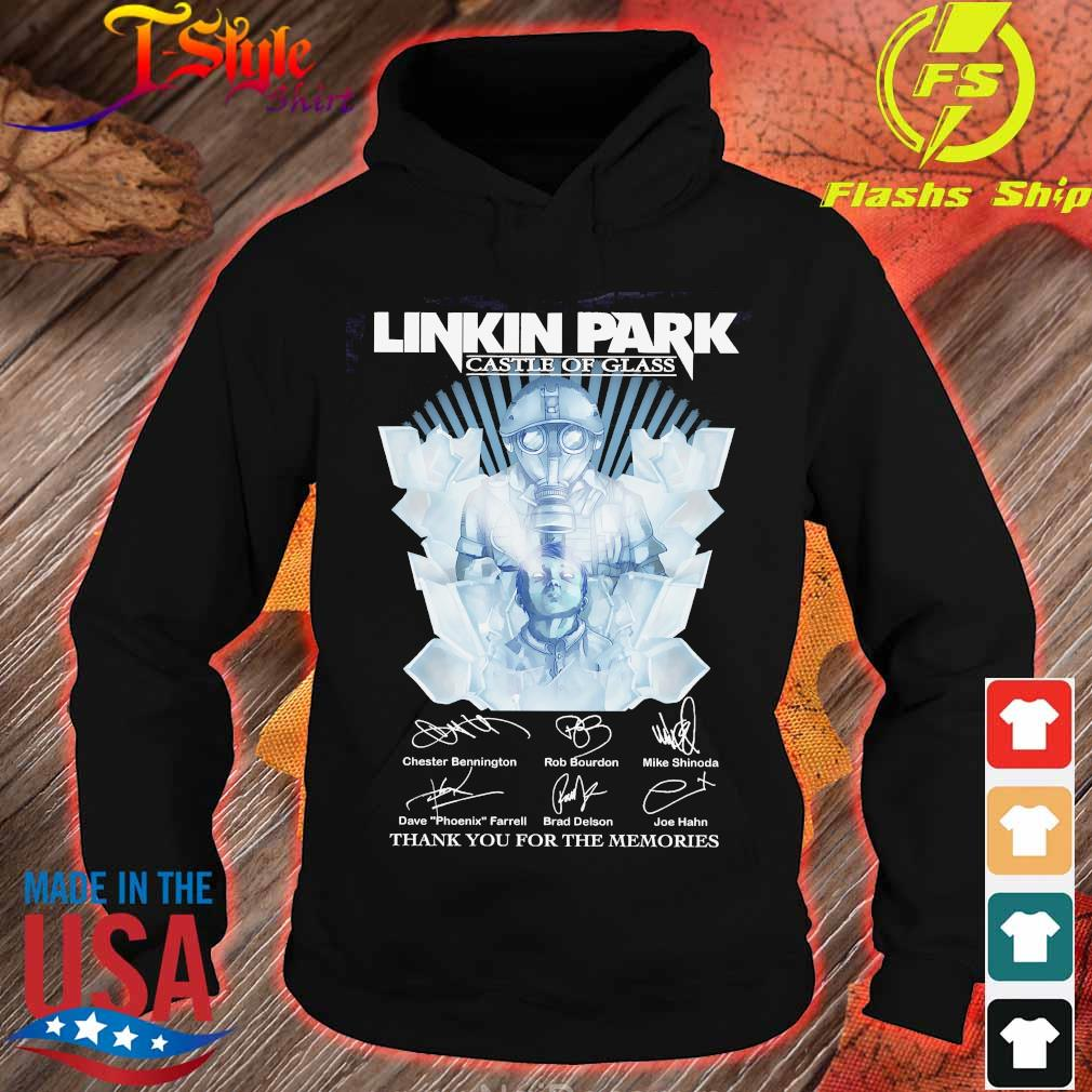 Linkin Park castle of glass thank You for the memories signatures Shirt hoodie