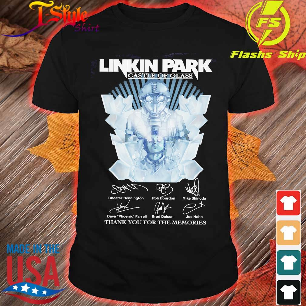 Linkin Park castle of glass thank You for the memories signatures Shirt