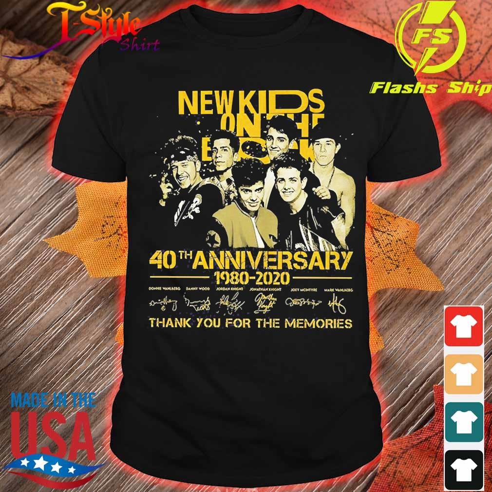 New Kids On The Block 40th anniversary 1980 2020 thank You for the memories signatures Shirt