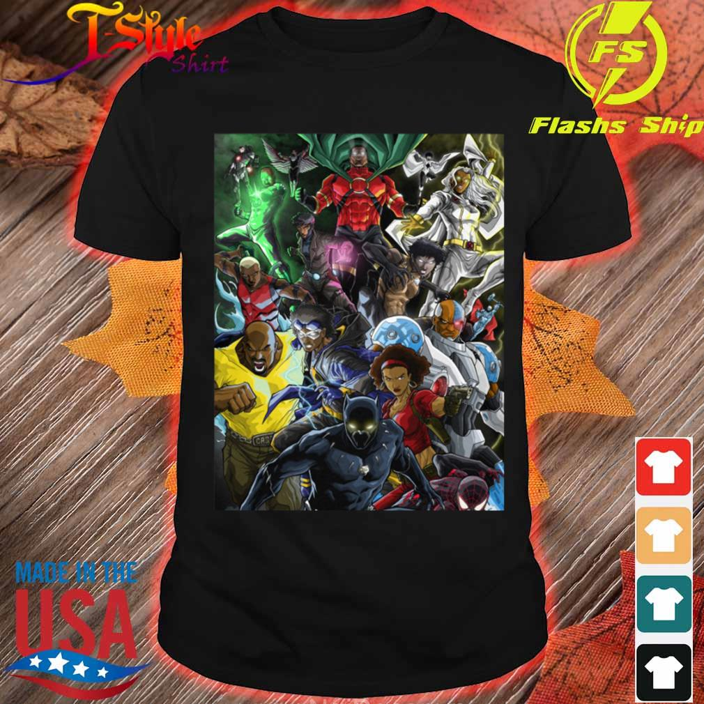 Superheroes of colour by Zack shirt