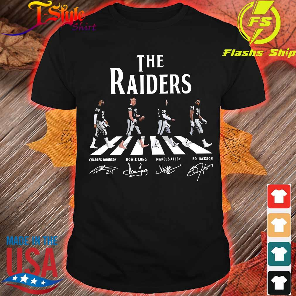 The Raiders abbey road signatures shirt