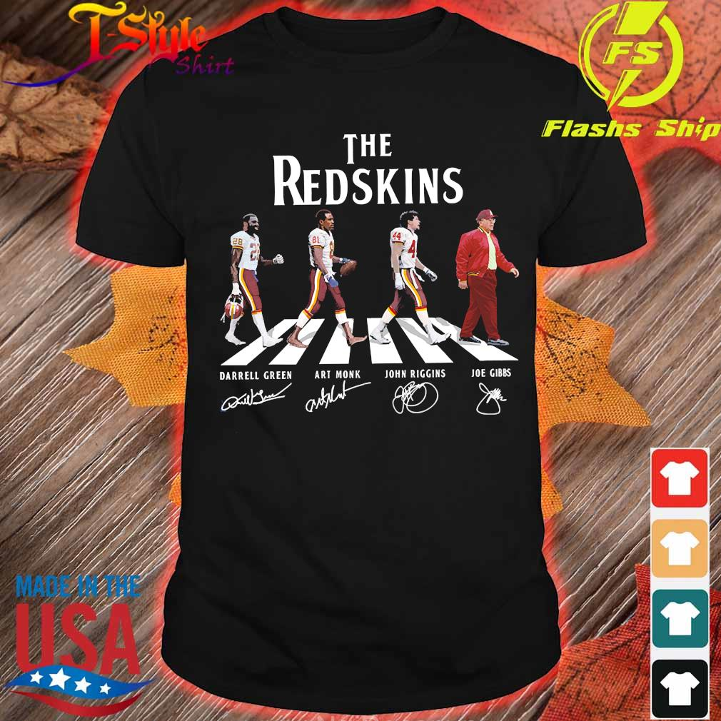 The Redskins abbey road signatures shirt