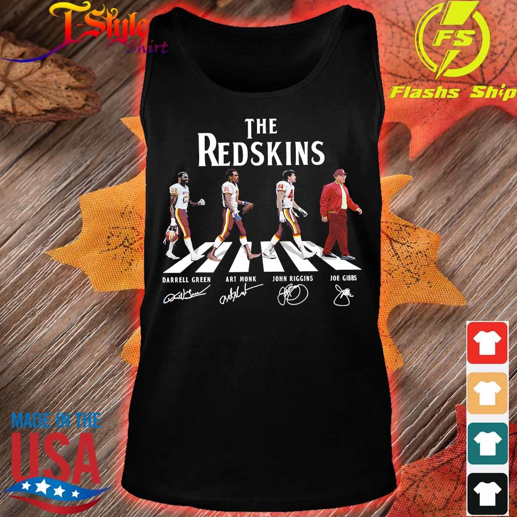 The Redskins abbey road signatures s tank top