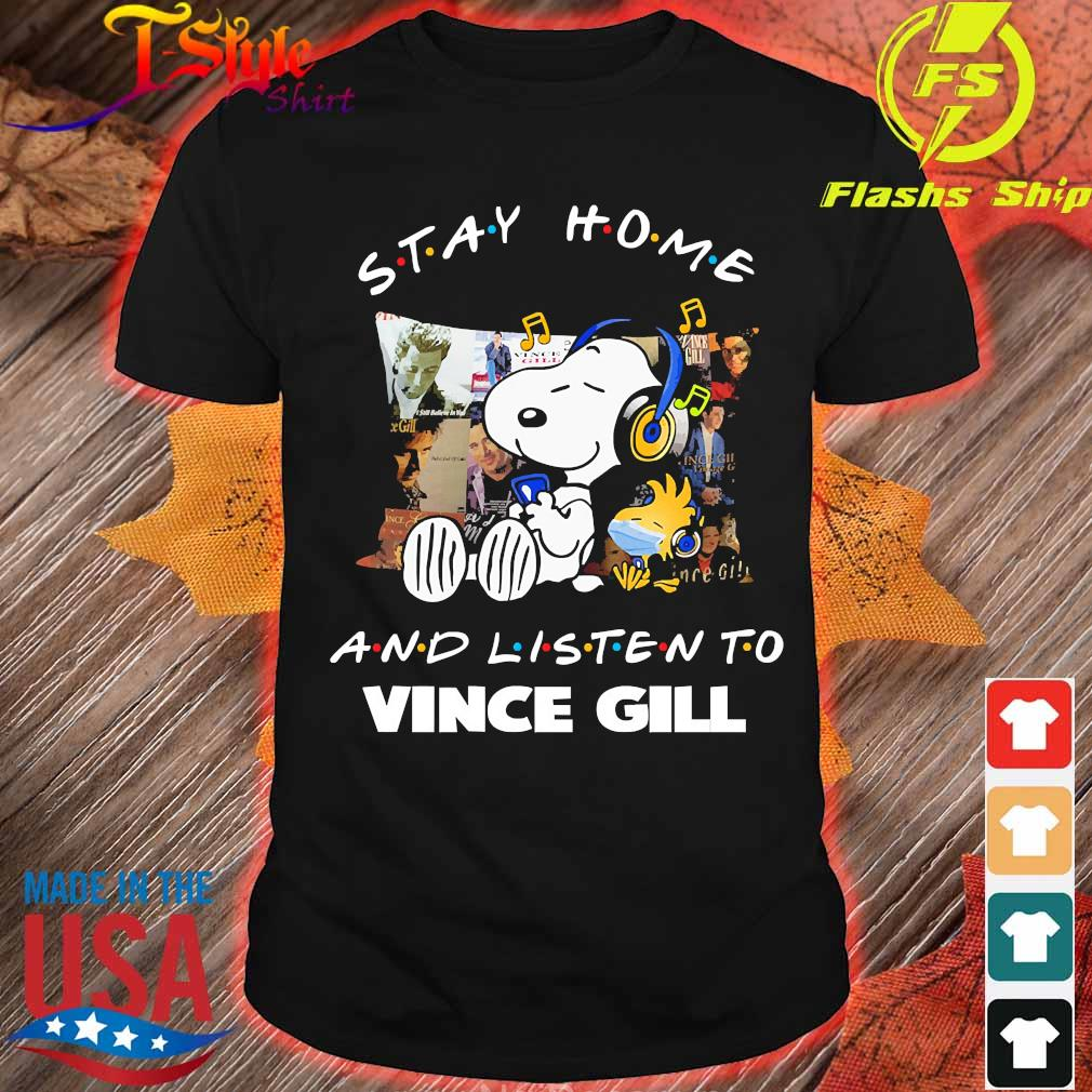 Snoopy and Woodstock Stay home and listen to Vince Gill shirt