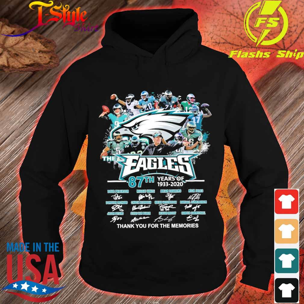 Eagles 87TH years of 1933 2020 signatures s hoodie