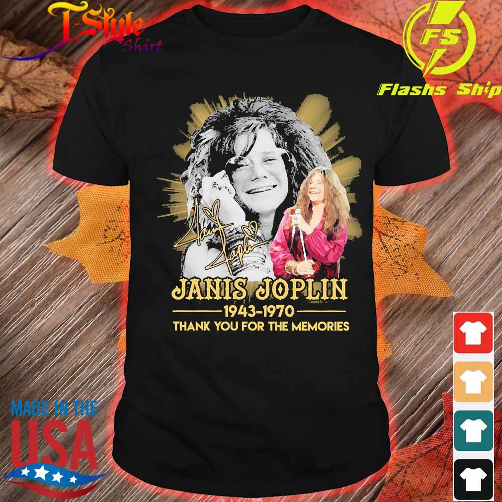 Janis Joplin 1943 1970 thank You for the memories signature shirt