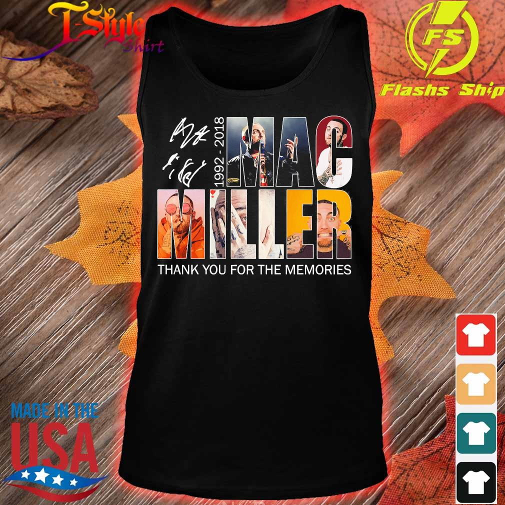Mac Miller 1992 2018 thank You for the memories signature s tank top