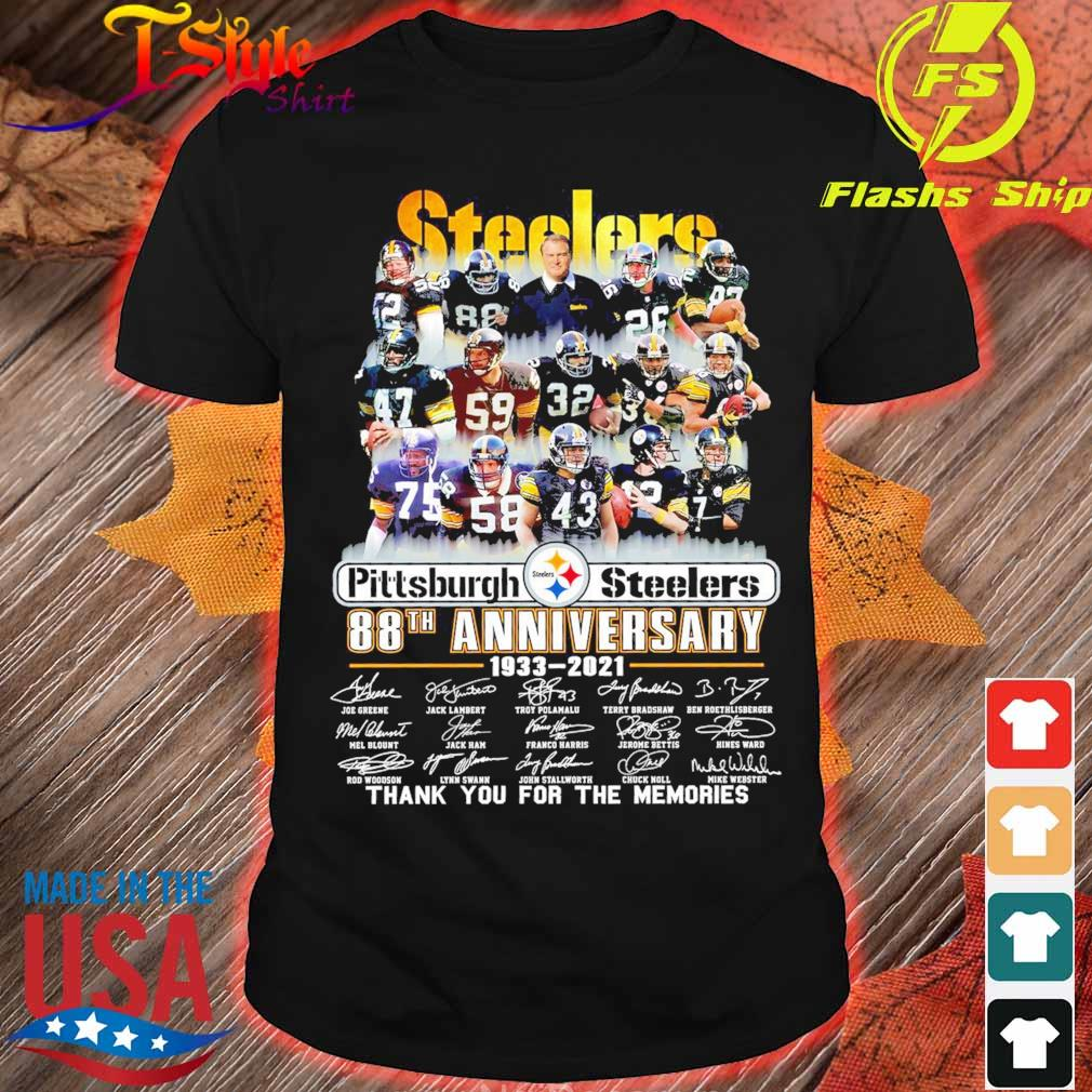 Steelers Pittsburgh Steelers 88TH Anniversary 1933 2021 signatures shirt