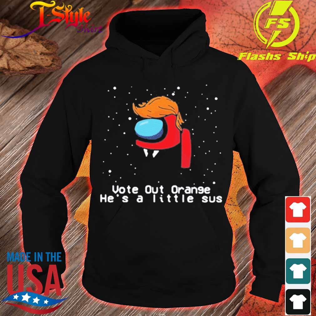 Among Us Trump Vote Out Orange He's A Little Sus Christmas sweater hoodie